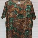 Velour Jungle Print T Shirt Tropical My Pieces Size L Large...