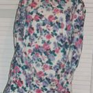 Floral Ribknit Sweater Long Sleeves Size M Medium & FREE SHIPPING!!