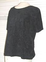 Black Velvet Stretch Shirt Size L Large Jason Maxwell...