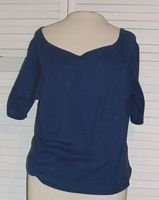 Blue Cotton Cropped Tank T Shirt Size XL Extra Large Xhilaration...