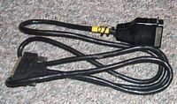 Vintage Serial to Parallel Printer Cable Black