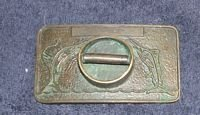 Vintage Brass Fish Belt Buckle Rod Holder