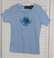 Blue Cotton Angel T Shirt by No Boundaries Size 10 / 12