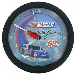 Dale Jarrett NASCAR Wall Clock w/ Flashing Headlights!
