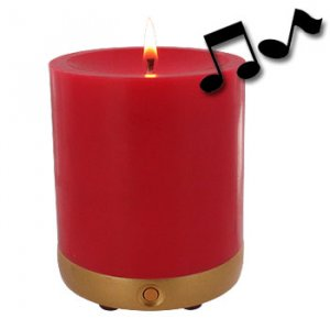 "Musical Rose Scented Candle... Plays ""Wind Beneath My Wings"""