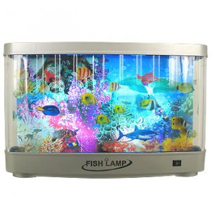 Revolving Tropical Fish Lamp by Premier
