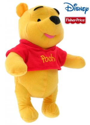 "13"" Winnie The Pooh Plush Stuffed Animal Doll by Fisher Price"