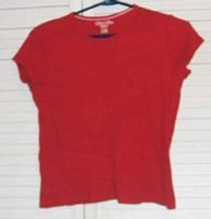 Red Ribknit Stretch T Shirt by Faded Glory Size 14 / 16