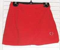 Red Cotton Stretch Skorts by Hearts Size XL