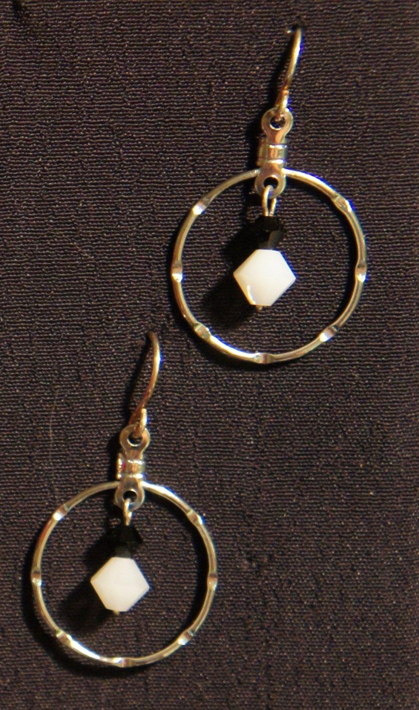 Jana Earrings- Black and White