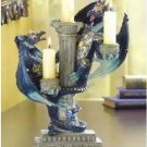 Blue Dragon Candleholder