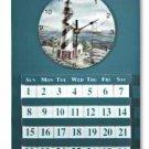 Lighthouse Wall Clock & Calendar