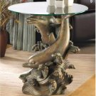 Seafaring Dolphin Accent Table