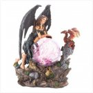 Gothic Angel with Glowing Globe
