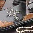 Jeweled Cross Hinge Wallet