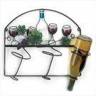 Grapevine Bistro Wall Wine Bottle Holder