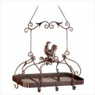Country Rooster Hanging Pot Rack