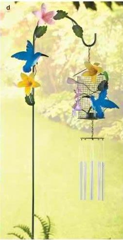 Hummingbird Lantern Chime Stake