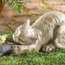Birdwatching Kitty Statue