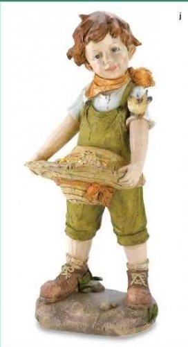 Country Boy Birdfeeder Statue