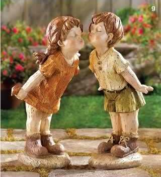 Our First Kiss Garden Statues
