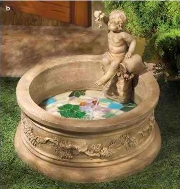 Tuscan Cherub Fountain
