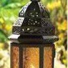 Yellow Glass Moroccan Candle Lantern