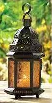 Yellow Glass Moroccan Candle Lantern