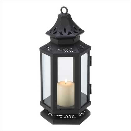 Black Stagecoach Candle Lantern