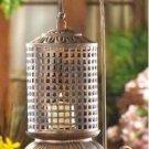 Copper Lattice Candle Lantern