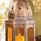 Copper Amber Candle Lantern