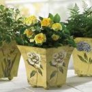 Flower Print Pots