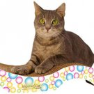 PURRFECT STRETCH COLORFUL BUBBLES CAT KITTEN SCRATCHING PAD POST WITH CATNIP!