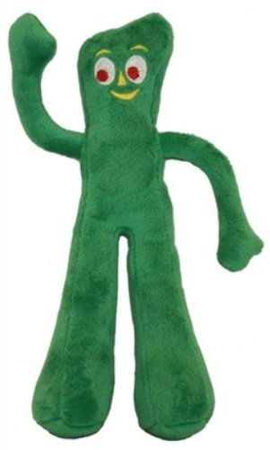 CLASSIC TV NOSTALGIC CHARACTER GUMBY PLUSH SQUEAKER DOG PUPPY TOY