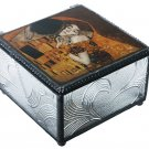 "GUSTAV KLIMT ""THE KISS"" ART INSPIRED TRINKET JEWELRY DRESSER BOX GERMAN ARTIST"