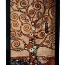 "Gustav Klimt ""TREE OF LIFE"" Stained Art Glass Window Panel Hanging Display"