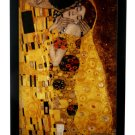 """GUSTAV KLIMT """"THE KISS"""" STAINED GLASS ART WINDOW PANEL HANGING DISPLAY with STAND"""