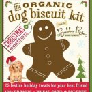 Organic Dog Biscuit Cookbook Kit Christmas Edition w Gingerbread Cookie Cutter