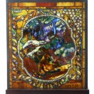 "Tiffany Style The Four Seasons ""WINTER"" Stained Art Glass Window Panel Display"