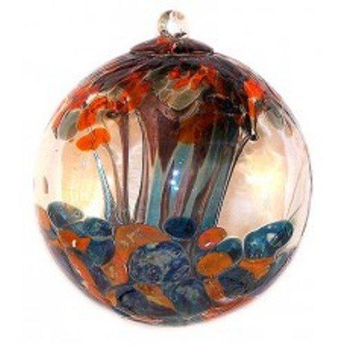 """6"""" European Art Glass GUSTAV KLIMT """"TREE OF LIFE"""" Inspired Witch Ball Kugel"""