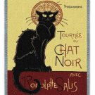 LE CHAT NOIR STEINLEN BLACK CAT TAPESTRY AFGHAN THROW BLANKET USA MADE!