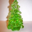 "Mosser Glass APPLE GREEN 2.75"" CHRISTMAS TREE Figurine Holiday Decoration"