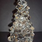 "Mosser Glass CLEAR CRYSTAL LARGE 8"" CHRISTMAS TREE Figurine Decoration New!"