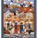 "IT''S RAINING CATS & DOGS Humorous Tapestry AFGHAN THROW 54"" x 70"" USA MADE!"
