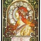 Alphonse Mucha ZODIAC Stained Glass Panel ART NOUVEAU MAIDEN 1896