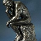 THE THINKER Nude Male MINI SCULPTURE STATUE POCKET ART RODIN Bronze Finish