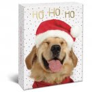 "Ho Ho Ho Holiday Dogs Boxed 4"" x 6"" Christmas Cards (20) Glitter & Foil Embellished with Envelopes"