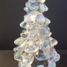 "Mosser Glass CRYSTAL FRENCH OPALECENT LARGE 8"" CHRISTMAS TREE Figurine"