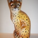 Fenton Glass Realistic Wild Cheetah Stylized Cat GSE J.K. Spindler Ltd Ed 4/19!