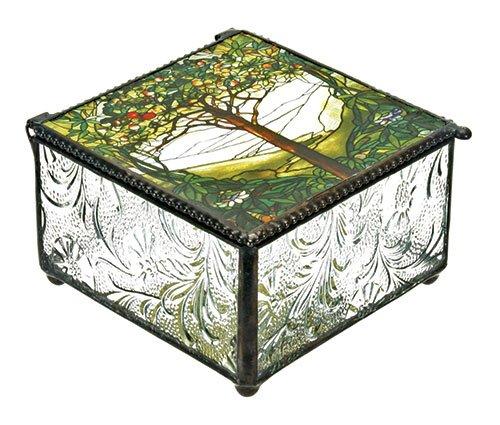 Tiffany Tree of Life Art Inspired Trinket Jewelry Dresser Vanity Box